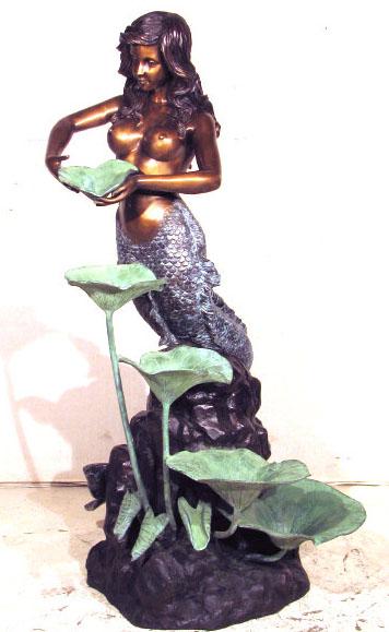 Mermaid With Lotus Leaf Fountain Mermaids Unlimited