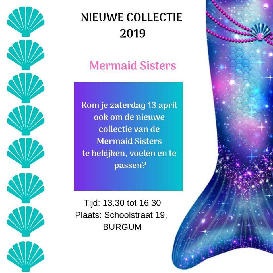 Zeemeermin staart passen op zaterdag 13 april bij de Mermaid Sisters