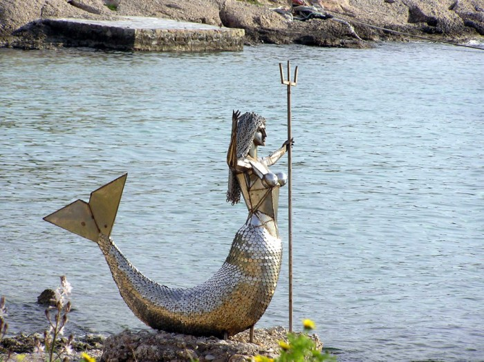 Mermaid Statue on Spetses island