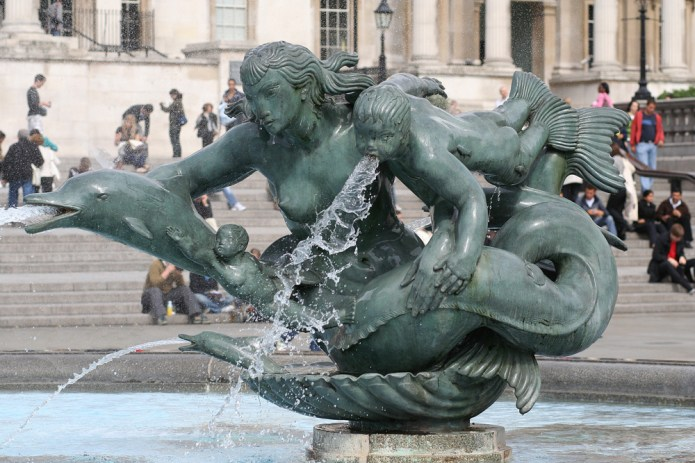 Trafalgar Square Mermaid sculpture.