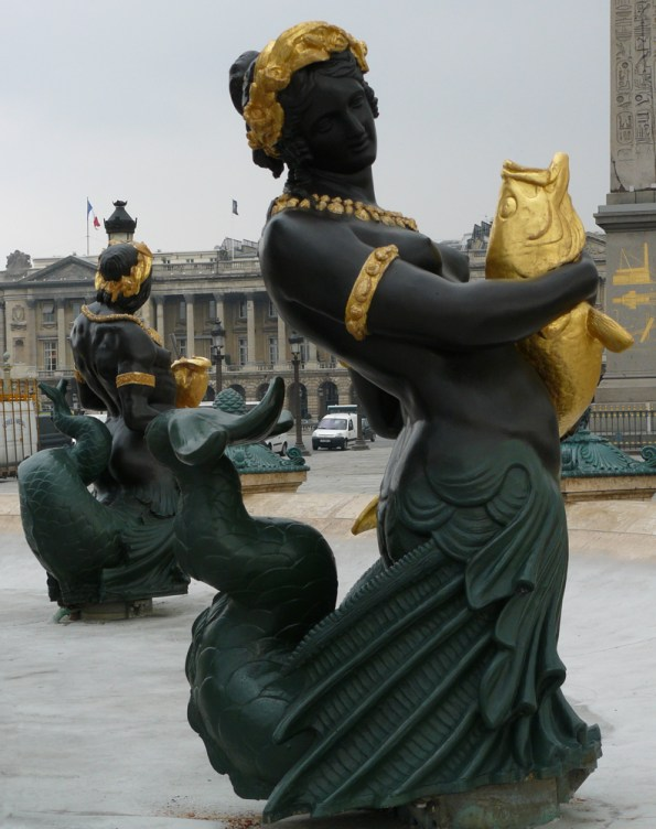 Mermaid and Triton in the Fountains at Place de la Concorde.