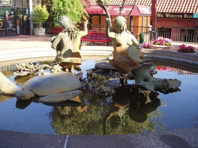 Mermaid Statues in Ghirardelli Square