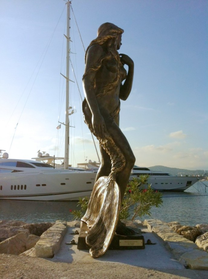 Ama du Cap d'Antibes mermaid sculpture