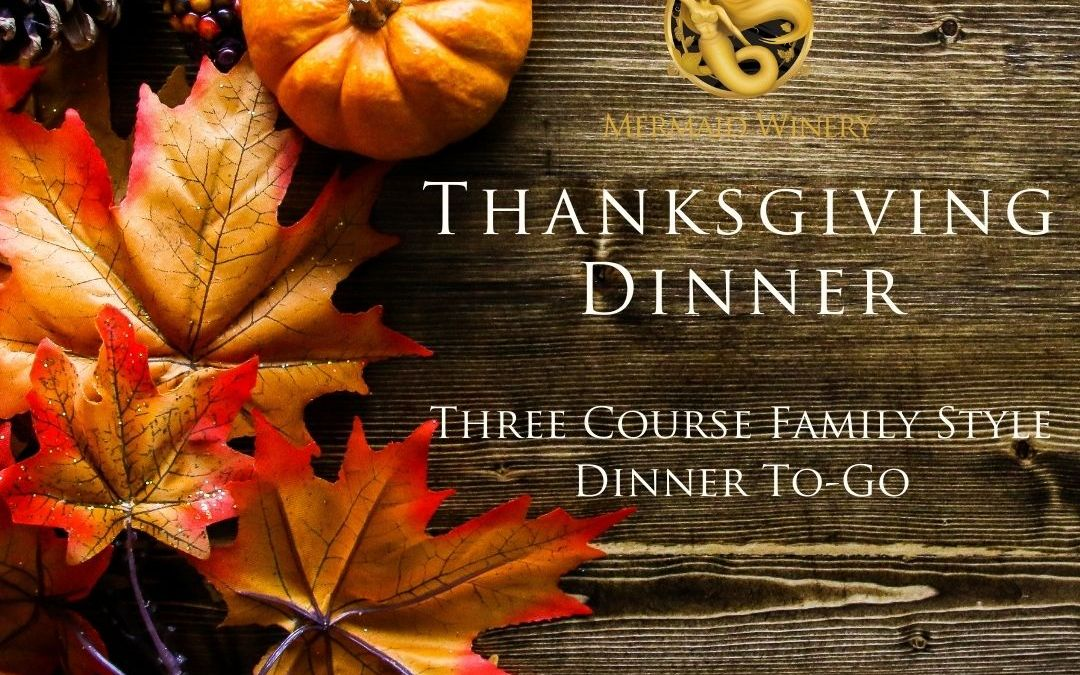 Thanksgiving Three Course Dinner – To-Go!