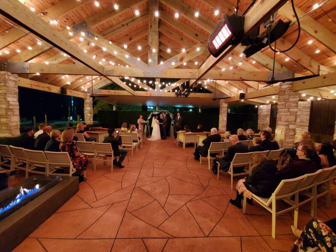 wedding on the patio