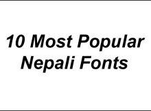 Popular Nepali Fonts