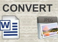 How to convert word to jpeg format