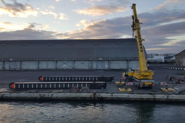 Mise en place des pieux du ponton SEEM 39-970ST « Benchicao »