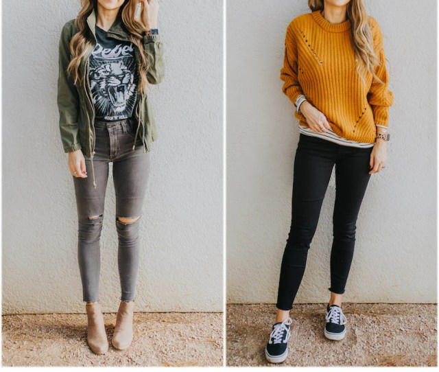 Step By Step Putting Together Two Casual Fall Outfits Merricks Art