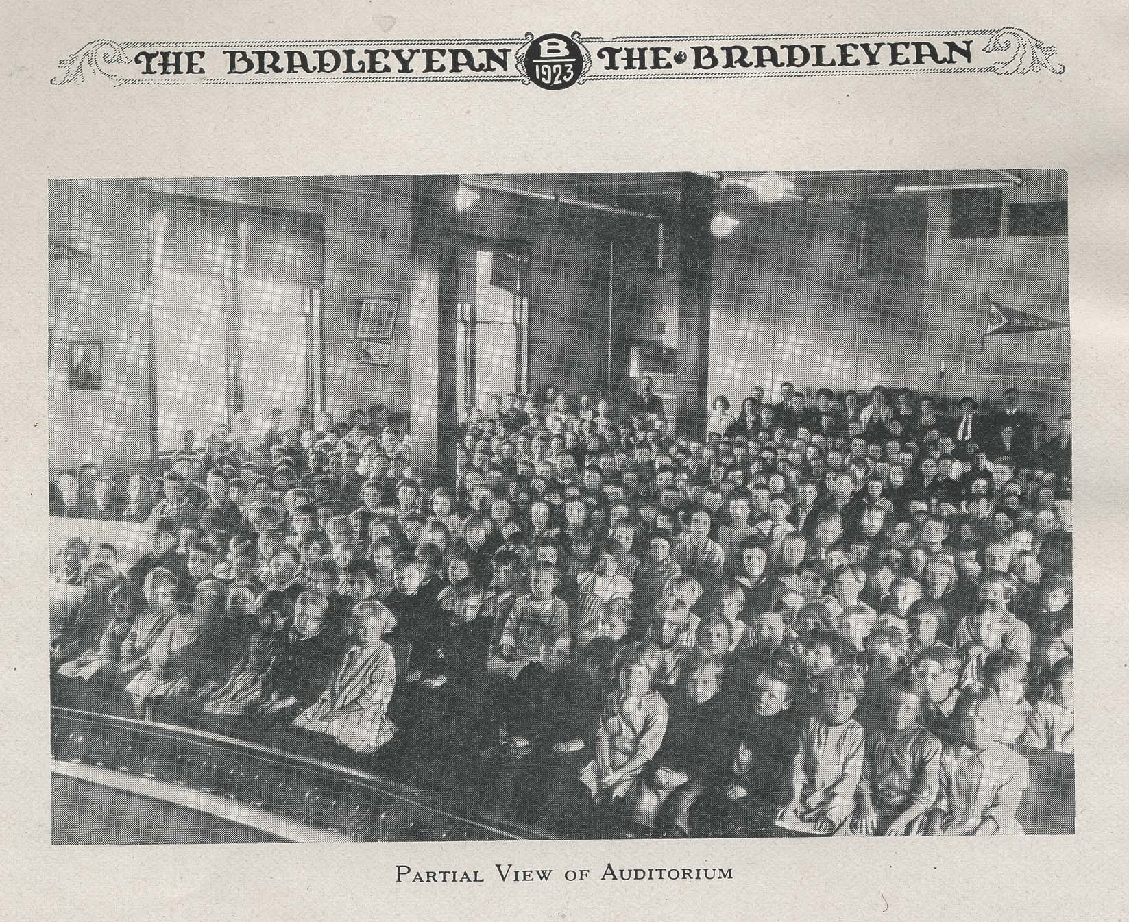 Bradleyean Year 1923 book page 8 Auditorium