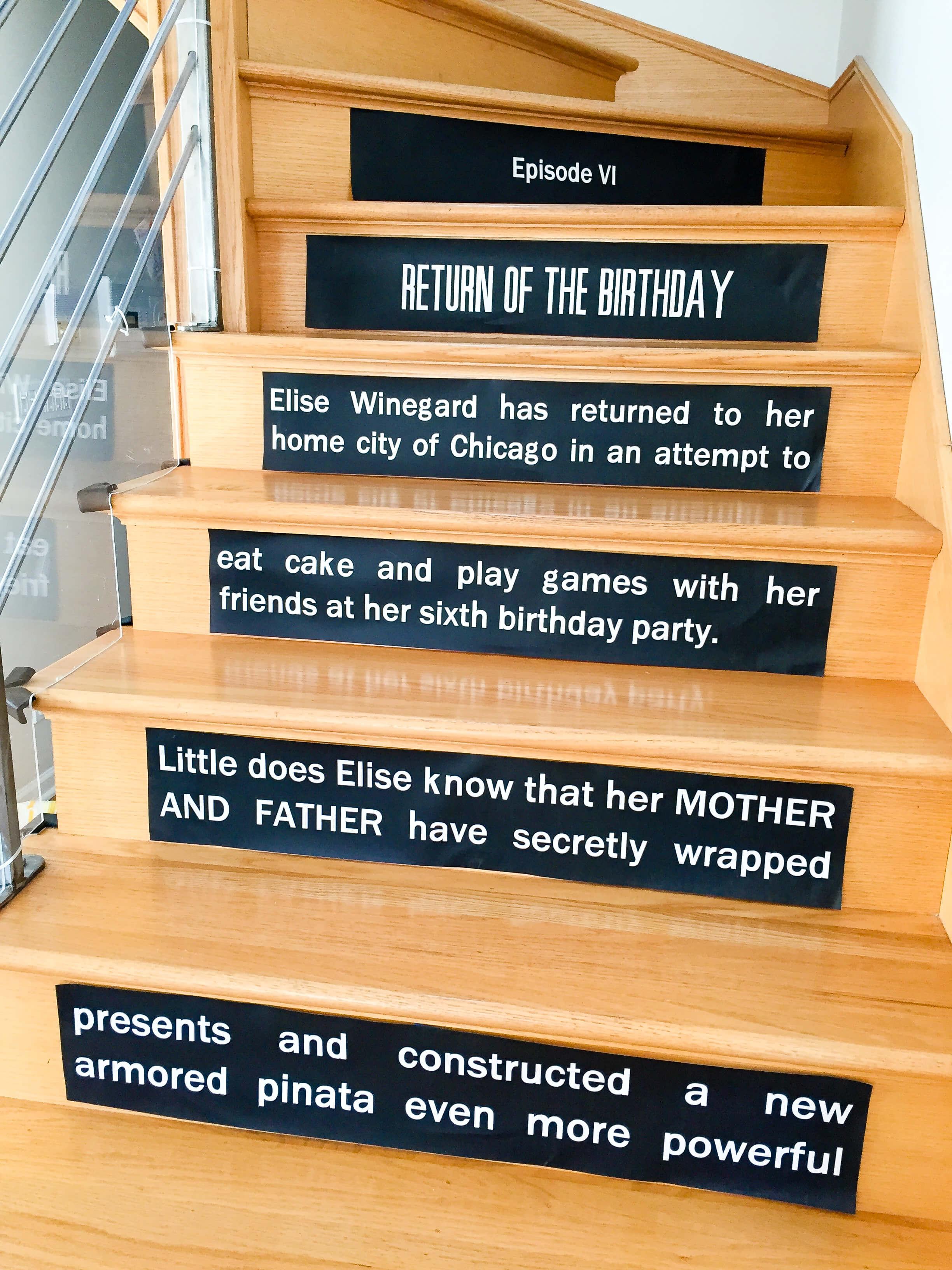 Star Wars Opening Crawl On Stairs Printable Star Wars