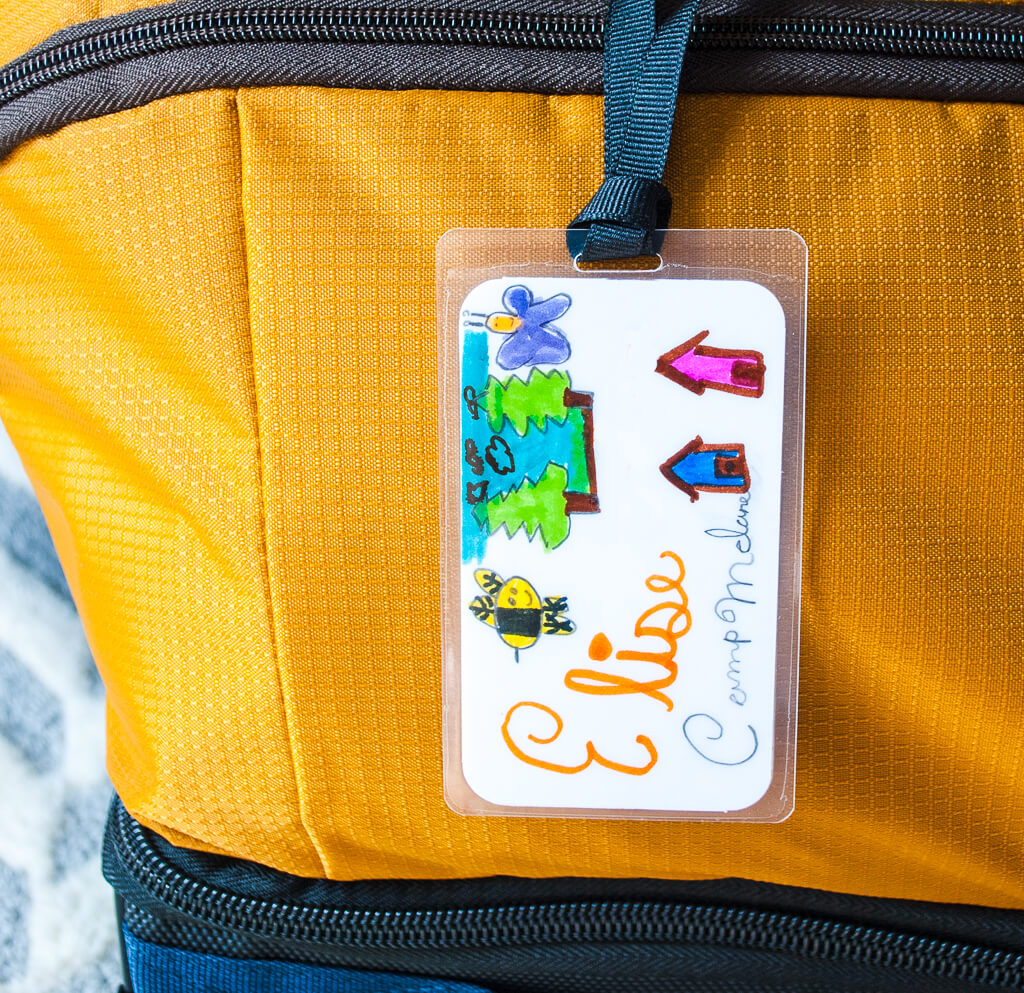 Summer Camp DIY Luggage Tag Merriment Design