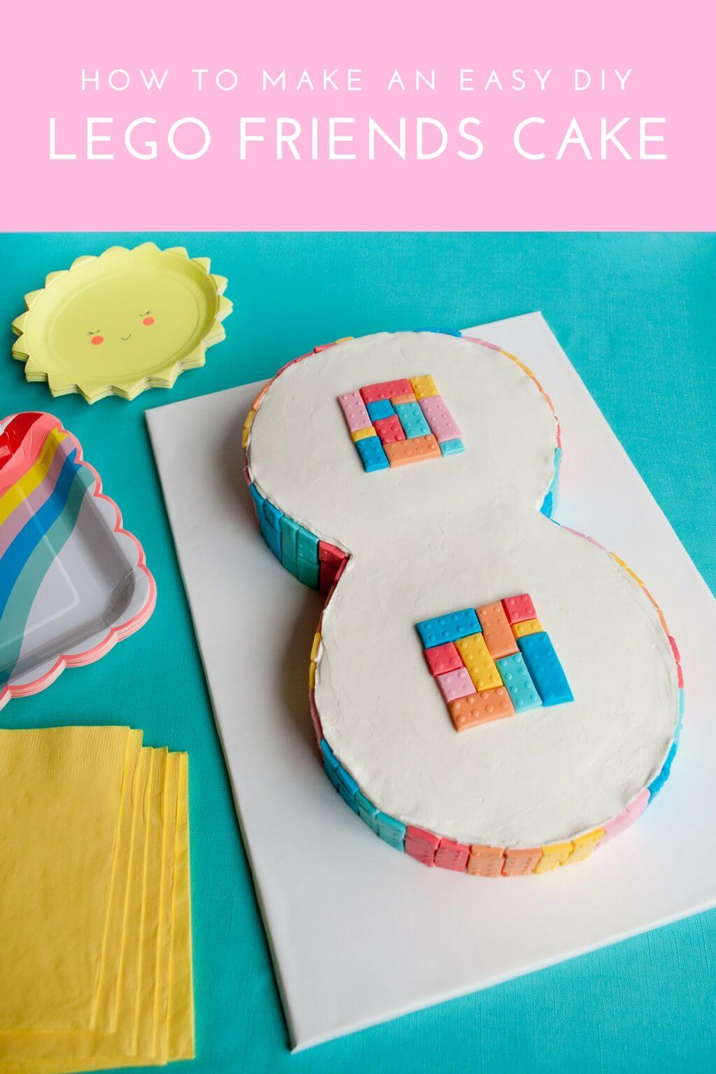 Easy Lego Friends Cake Idea For Girls