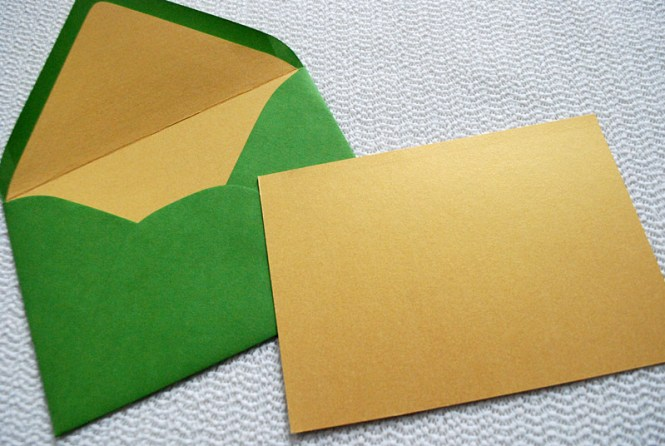 Green Diy Modern Wedding Invitation