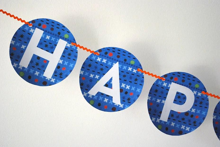 Free Printable Happy Birthday Banner Pdf In Blue Merriment Design