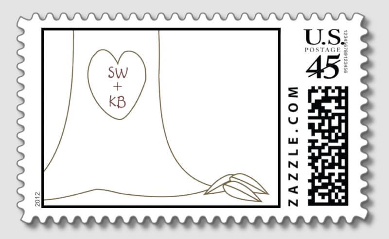 Giving Tree Personalized Postage Stamps Merriment Design