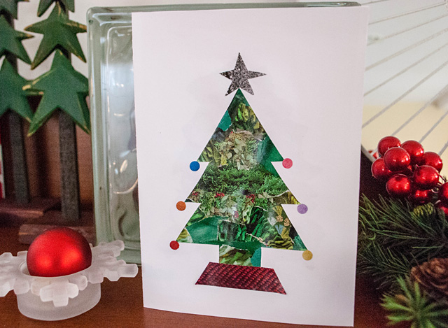 Handmade Christmas Cards From Recycled Magazines