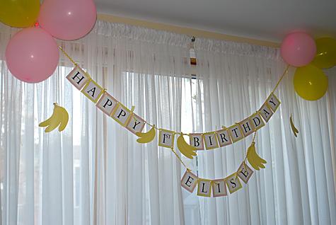 Happy 1st Birthday Banner Free Printable Hanging Sign Customizable Merriment Design
