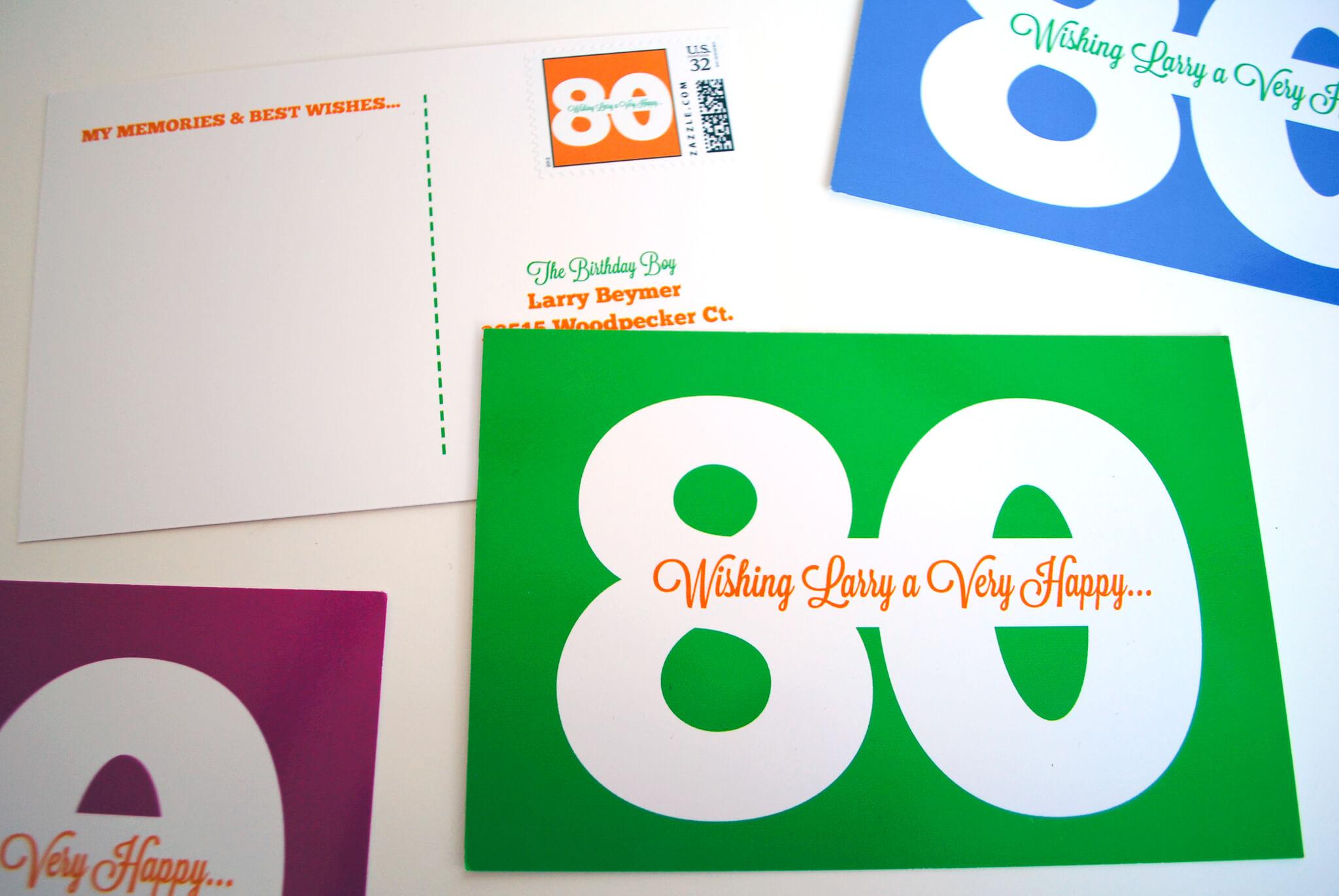 Milestone Birthday Idea Birthday Postcards For 80th 75th