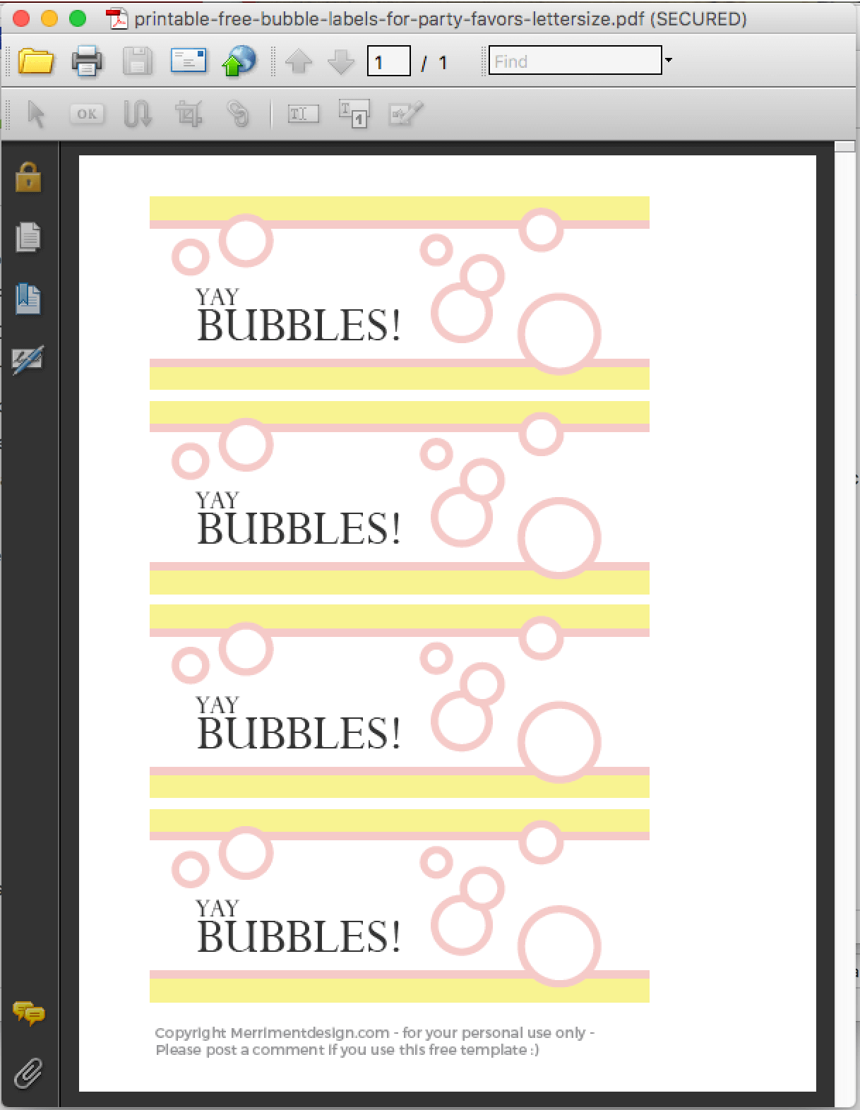 Printable Free Bubble Labels For Party Favors Merriment