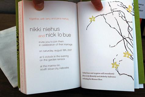 Smythe Sewn Letterpress Wedding Invitation Book Free Tutorial And Idea By Nikki Lo Bue