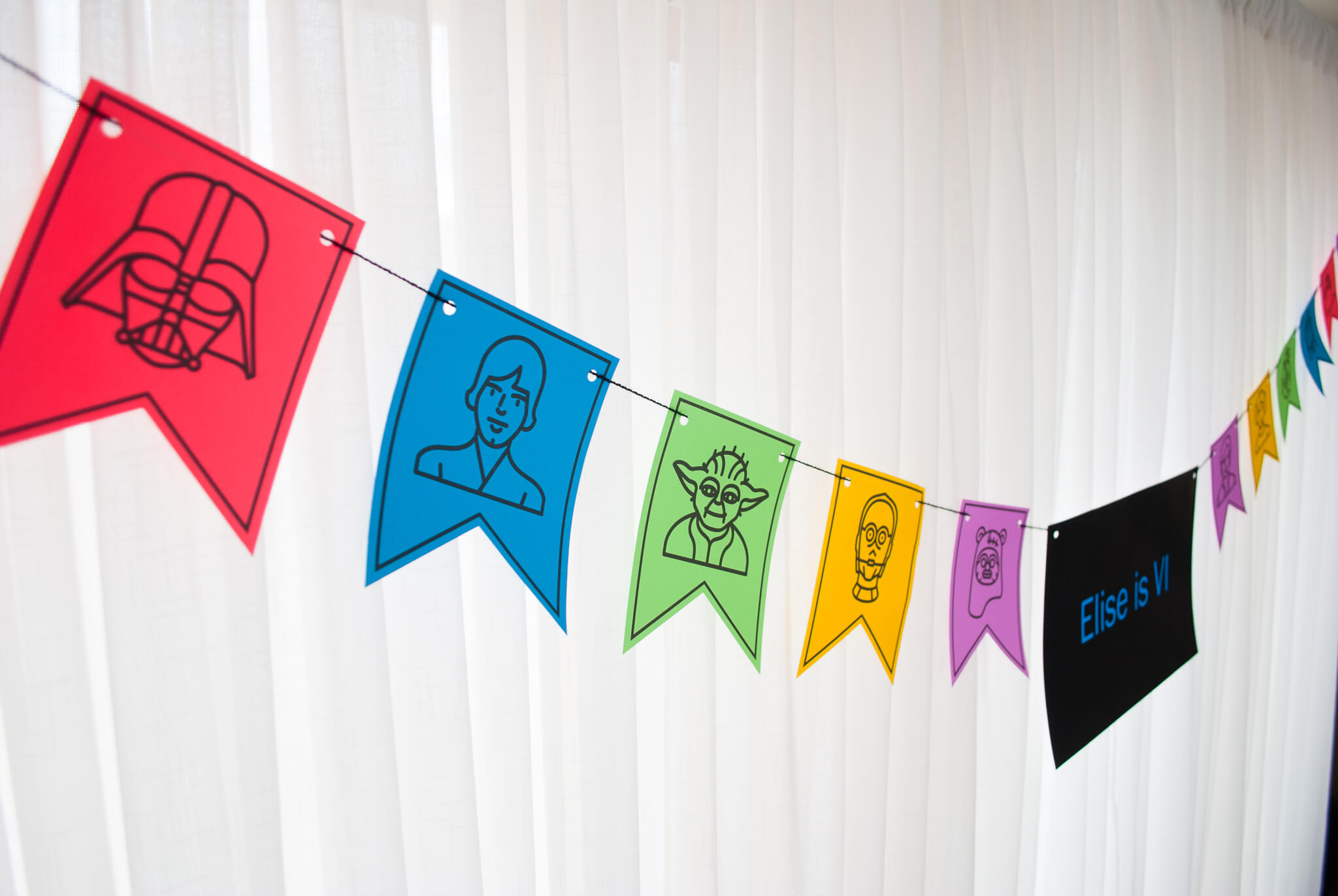 Star Wars Party Decorations Printable Birthday Banner In