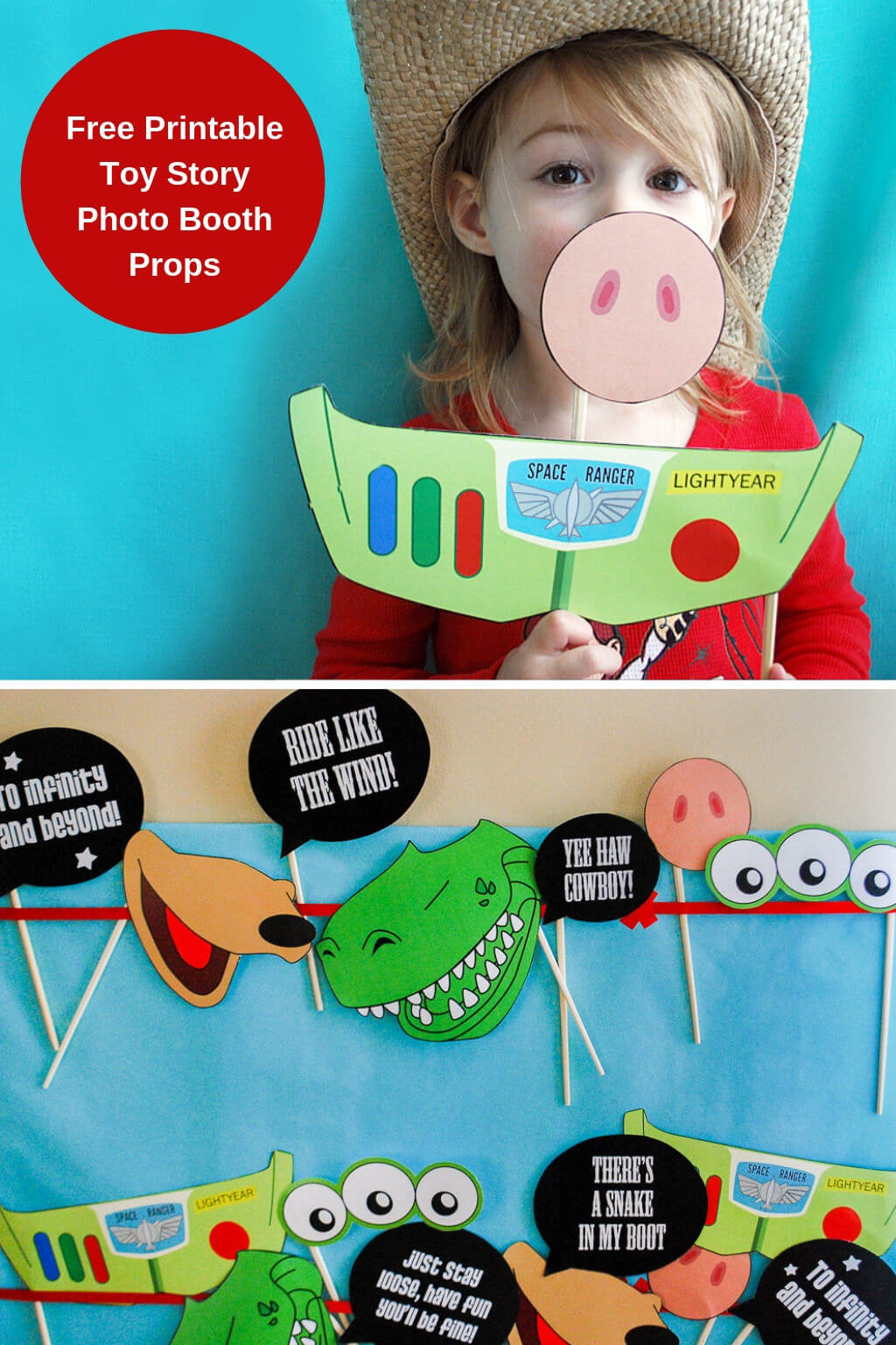 Toy Story Photo Booth Props Free Printable