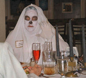 Debbie's ghost photo at her Celebrity Celebrations party