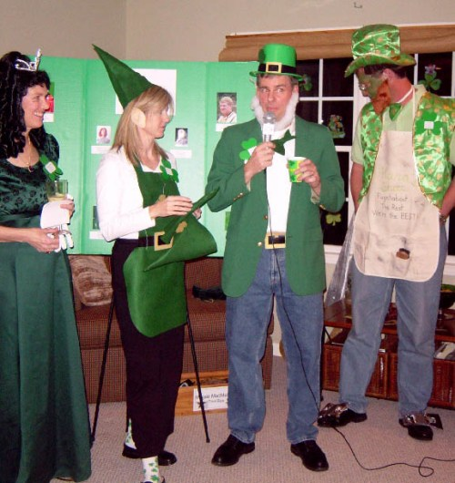 A photo from a St Patricks Day holiday party