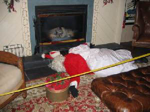 A photo of the victim from Lori's Who Killed Santa party