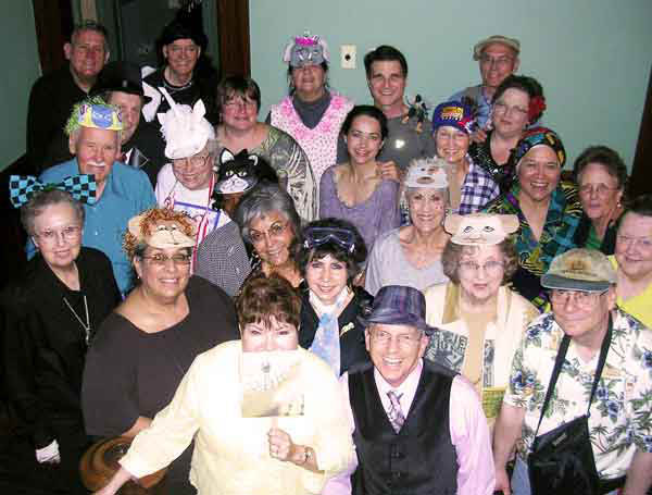 A group photo from Marte's Crazy Clown Car Caper party