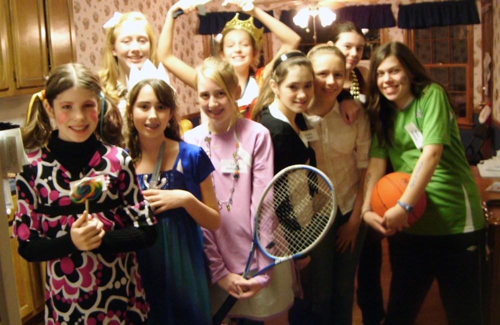 Balmy teen girls party