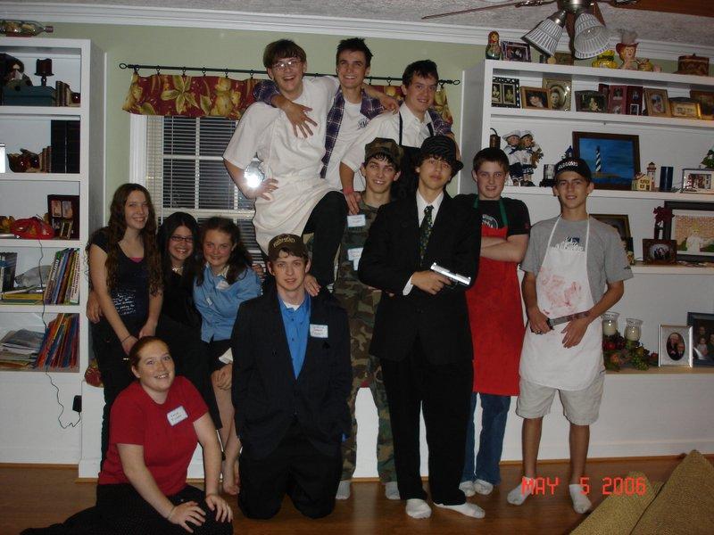 Boy teen party