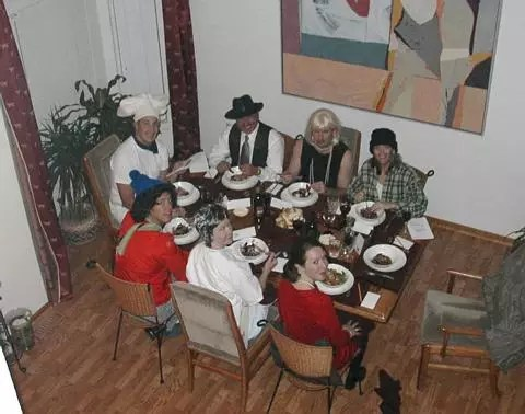 Dinner party photo