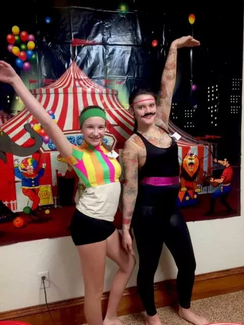 theme circus party trapeze artists