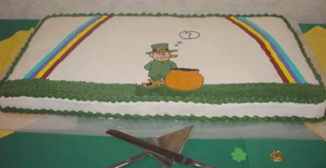 Irish party cake