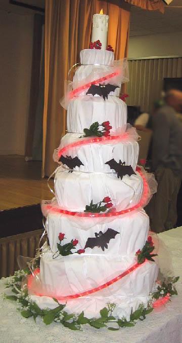 bats on a cake