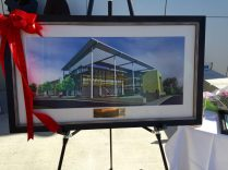 This rendering of the building was presented as a gift.