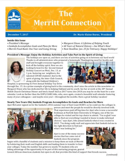 Merritt Connection December 8 2017