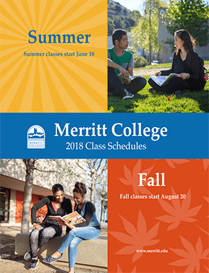 Merritt College Summer fall 2018 Schedule