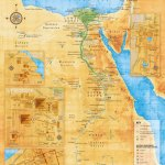 Ancient Egypt Map Illustrative Overview Map Highlighting The Main Sites And Settlements Of The Ancient Egyptian Civilisation Merritt Cartographic