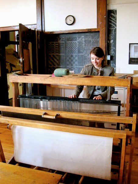 scenes from the Fibers Dept at MassArt | The Merriweather Council Blog