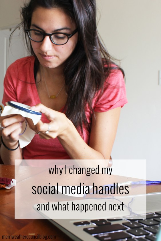 why i changed my social media handles + what happened next | the merriweather council blog