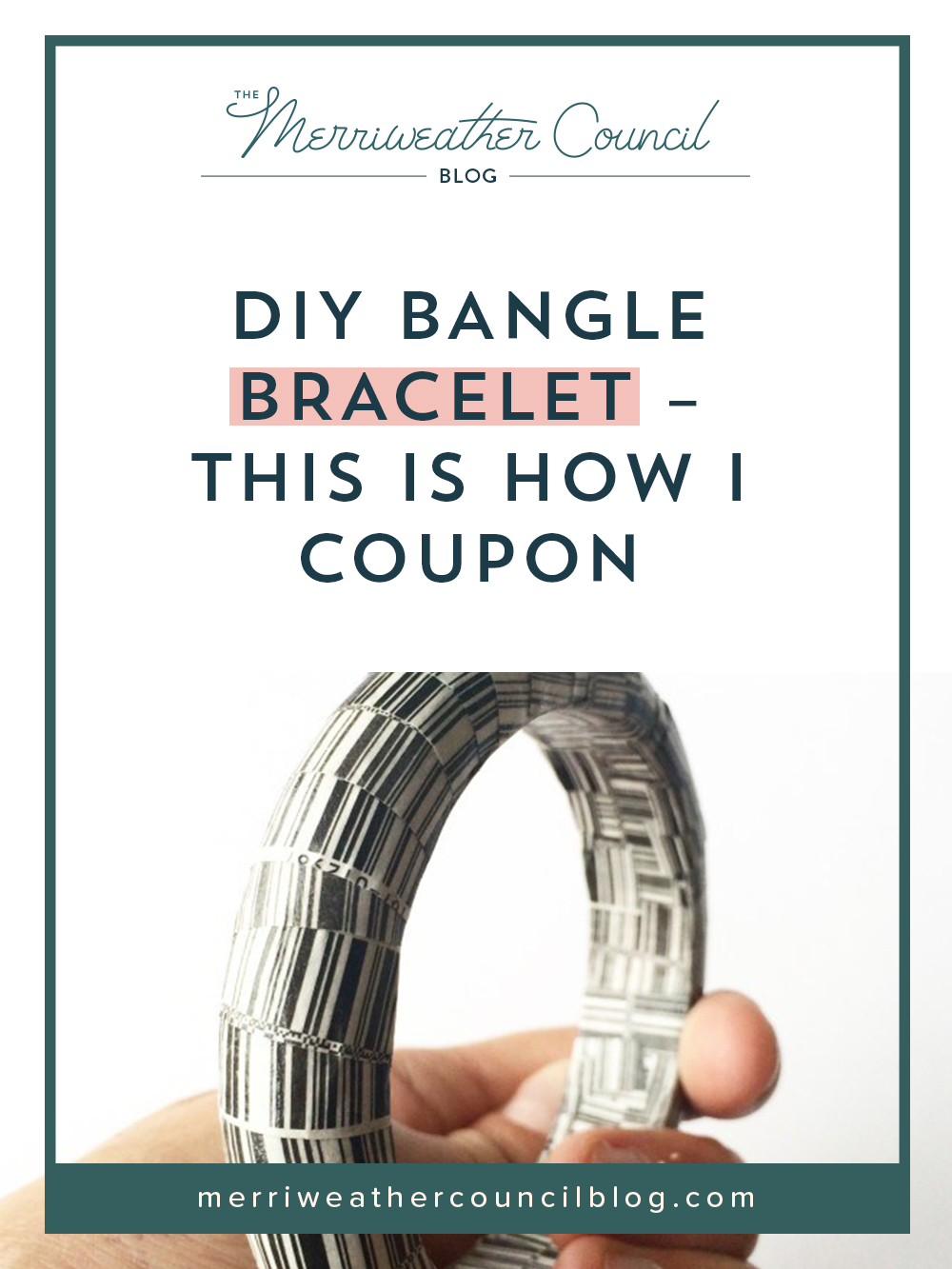 DIY decoupaged bangle bracelet | the merriweather council blog