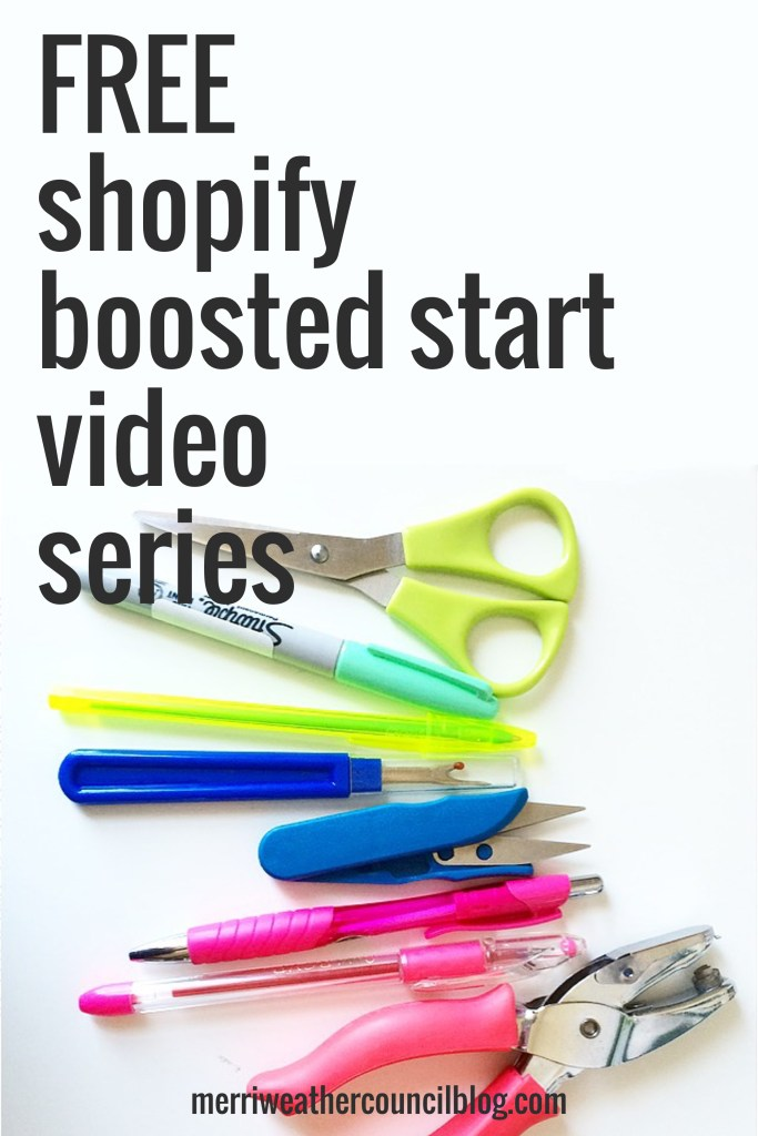 free shopify training series | the merriweather council blog