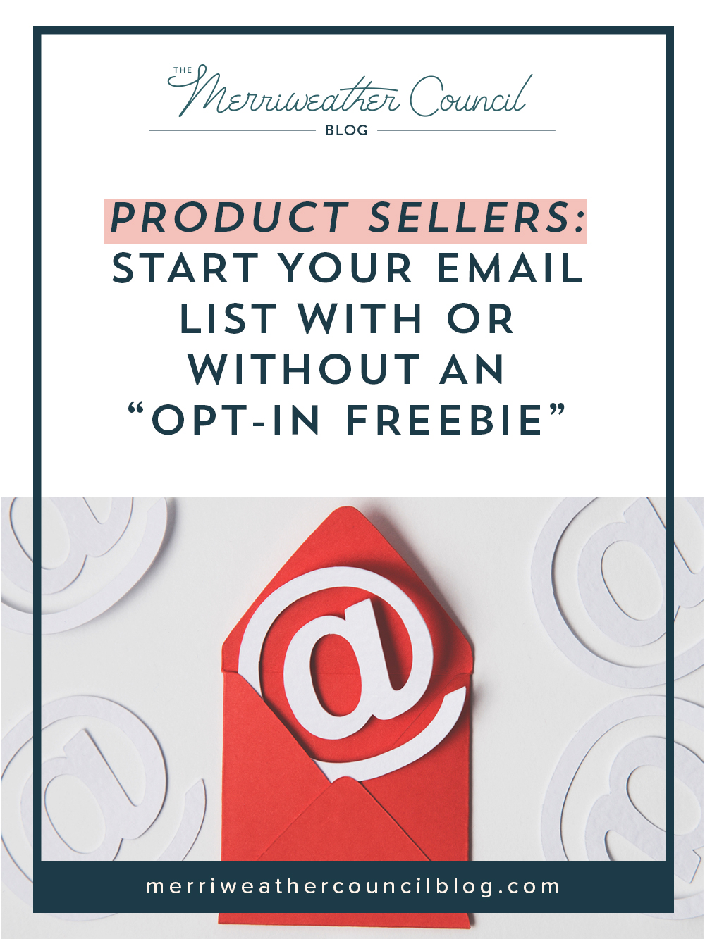 "Product Sellers: Start Your Email List with or WITHOUT an ""opt-in freebie"" 