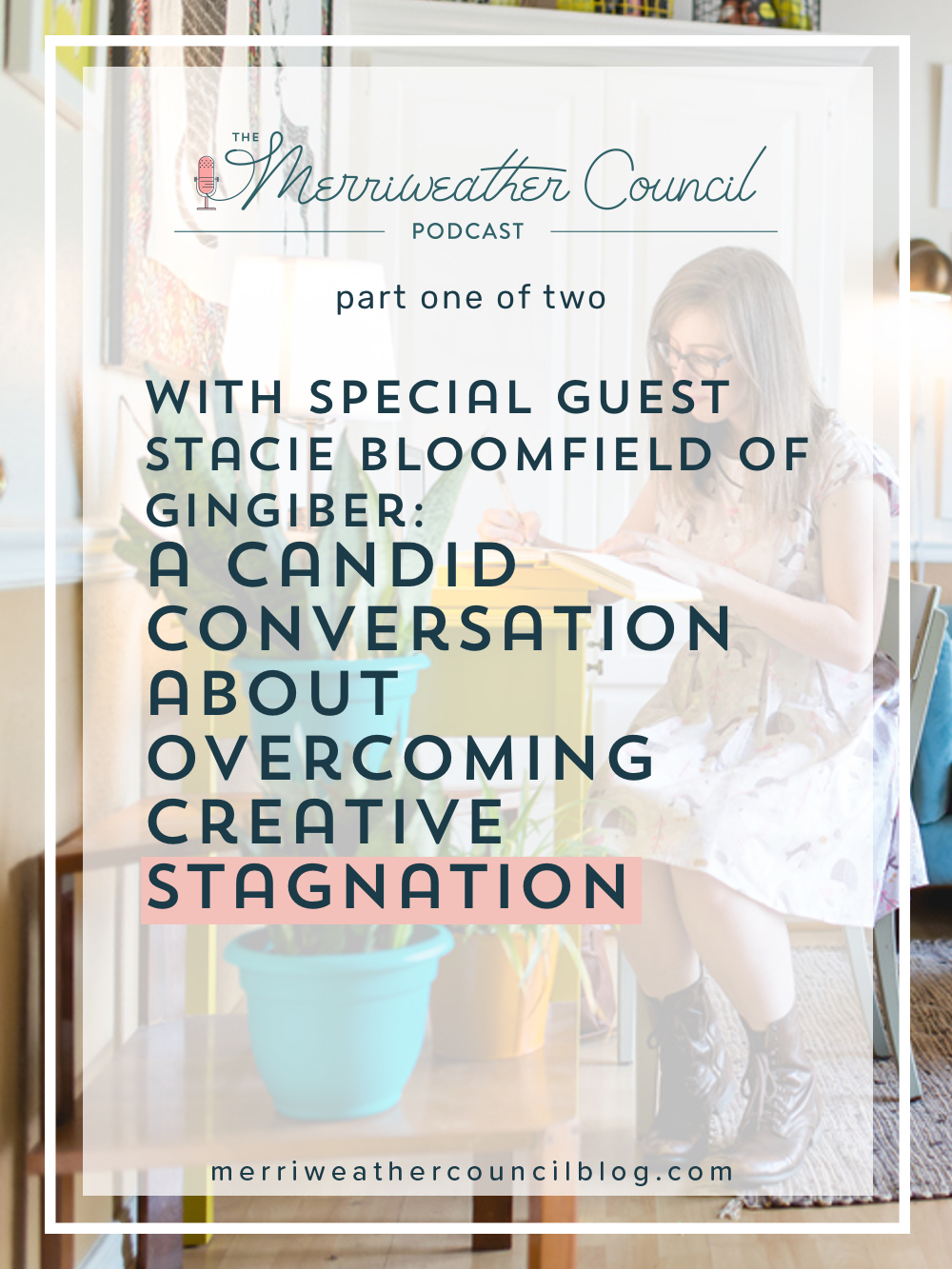 Stacie and I had a candid conversation about creative burnout and stagnation. In this episode you will hear us chat about what gives Stacie inspiration, the tool she's found to be a game changer in branching out creatively and developing new work, and how she is using the headspace app. | The Merriweather Council Blog