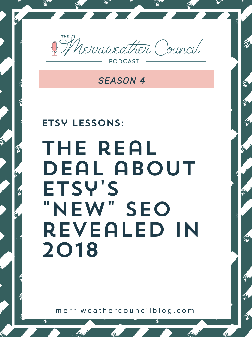 In today's episode we discuss the 2018 Etsy SEO update. I'll put things into perspective and help you understand the facts behind what Etsy did. | The Merriweather Council Podcast
