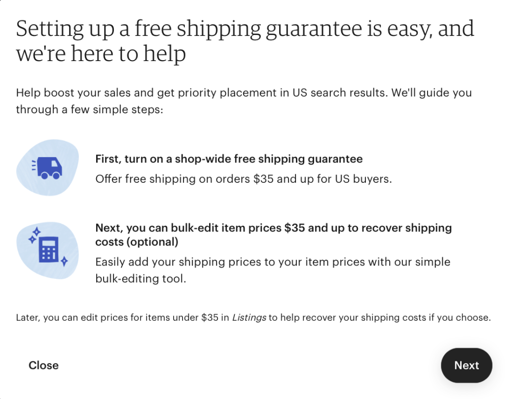 Setting Up Free Shipping