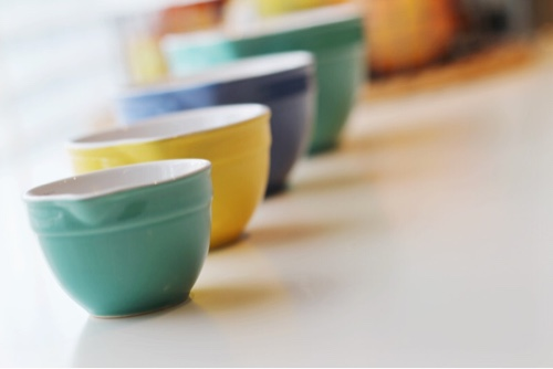 colourful stacking measuring bowls